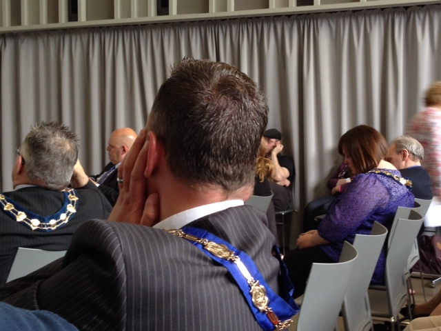 Several Lord Mayor's chains were on show at the launch of Community Relations Week